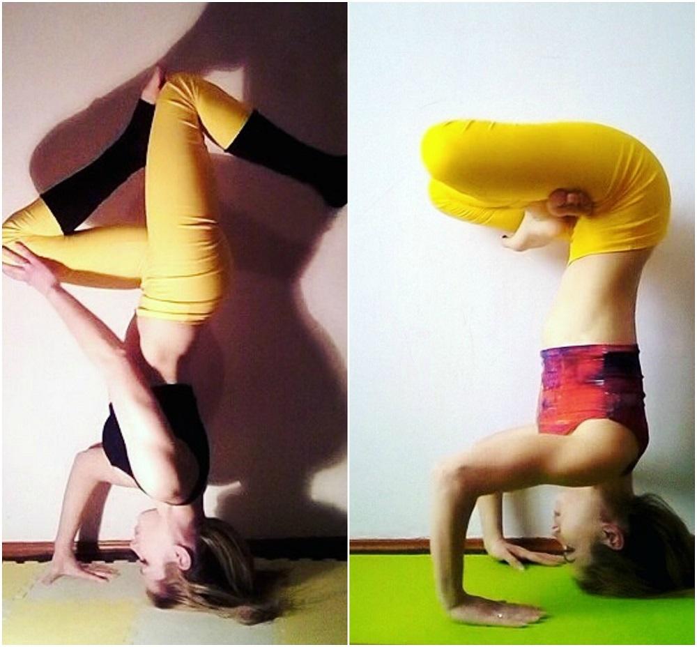 instagram's @sunloverflower yoga headstands