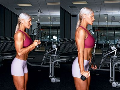 Tricep exercises for women - Pinterest cable press down